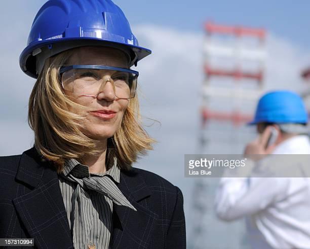 Weibliche Engineer Porträt