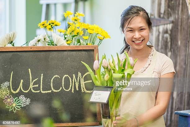 Female Entrepreneur and Florist