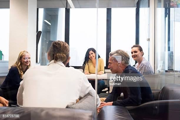 Female executive leading a meeting