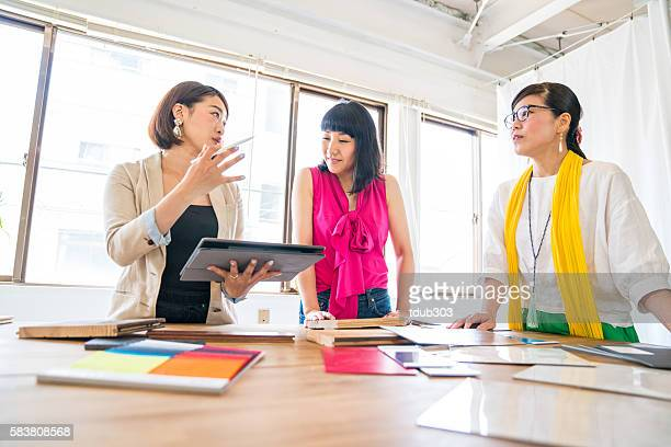 Female executives at an interior design or architectural firm