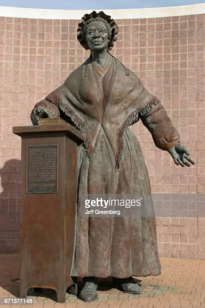 A female exslave memorial at Battle Creek