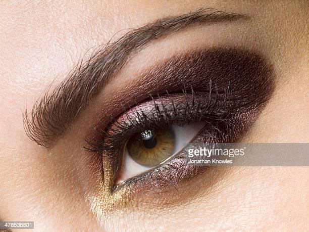 Female eye, make up, close-up