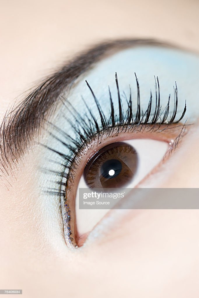 Female eye with eyeshadow : Stock Photo