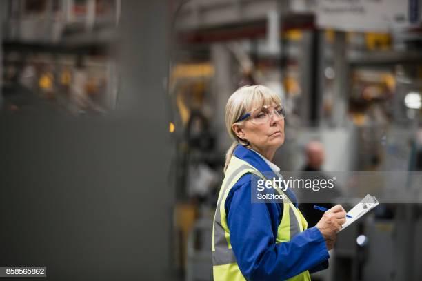 Female Factory Surveyor