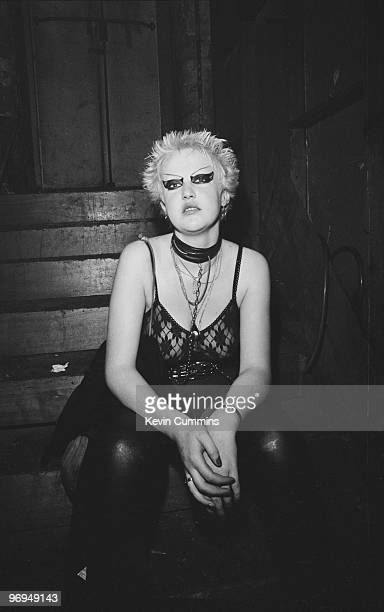 A female fan of English punk band the Buzzcocks at the Ranch Club in Manchester England on July 22 1977