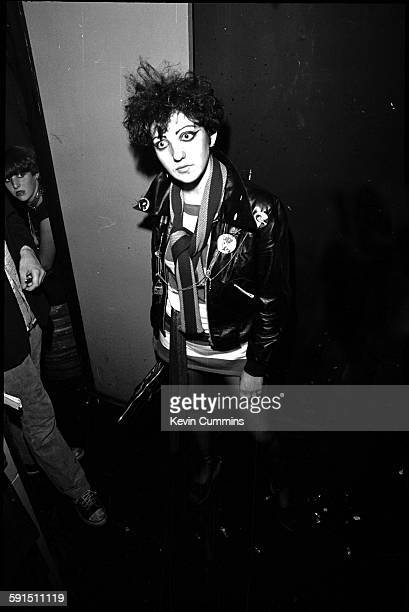 A female fan of English punk band the Buzzcocks at The Ranch Manchester's first punk club 22nd July 1977