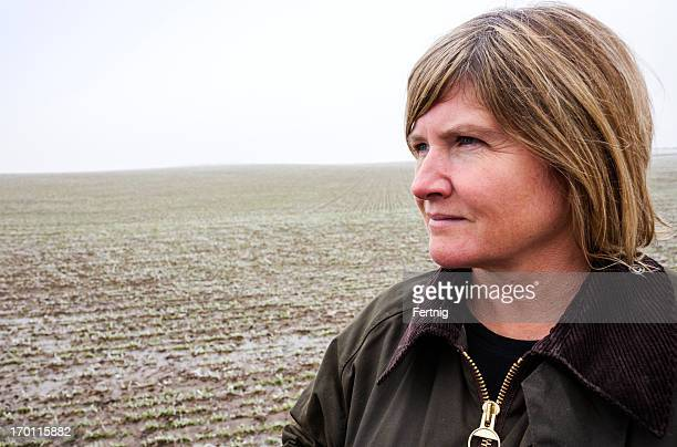 Female farmer in a field
