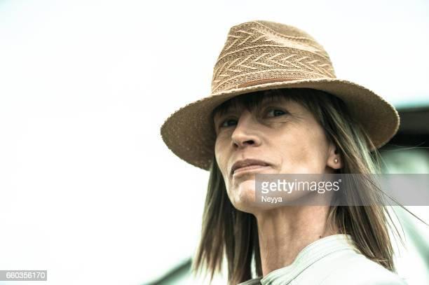 Vrouwelijke boer portret