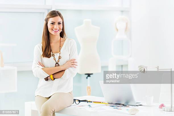 Female fashion designer.