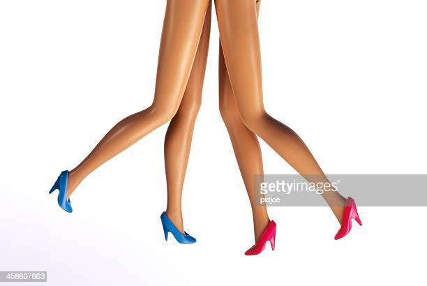 female fashion doll legs on high heels