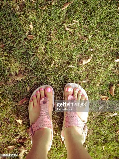 Female Feet - Pink Nails and Pink Sandals