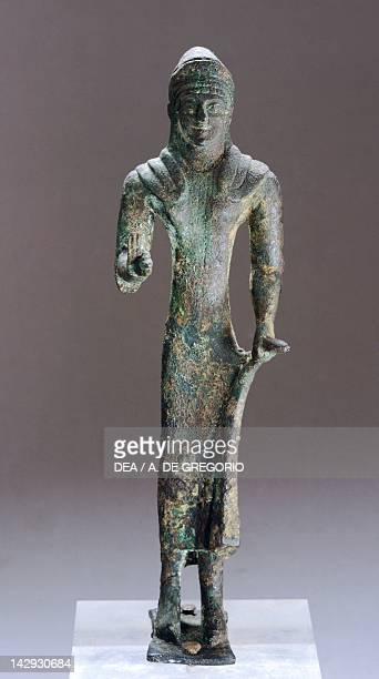 Female figure making an offering, bronze statuette from Marzabotto . Etruscan Civilization,ca480 BC. Marzabotto, Museo Nazionale Etrusco Pompeo Aria