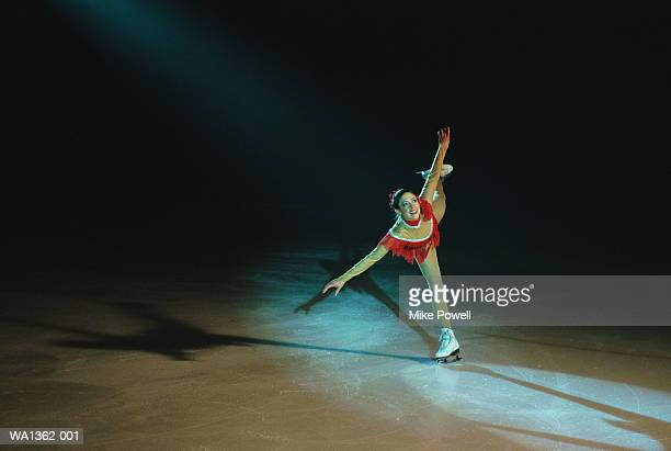 female figure skater - figure skating stock pictures, royalty-free photos & images
