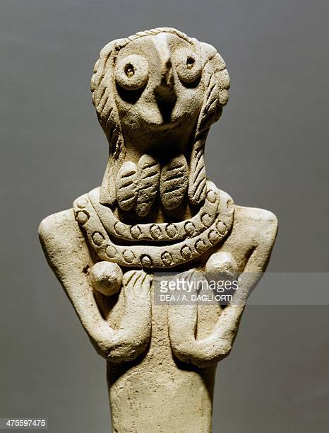 Female figurine in baked clay from Tell Selenkahiye Syria 3rd millennium BC Aleppo Archaeological Museum