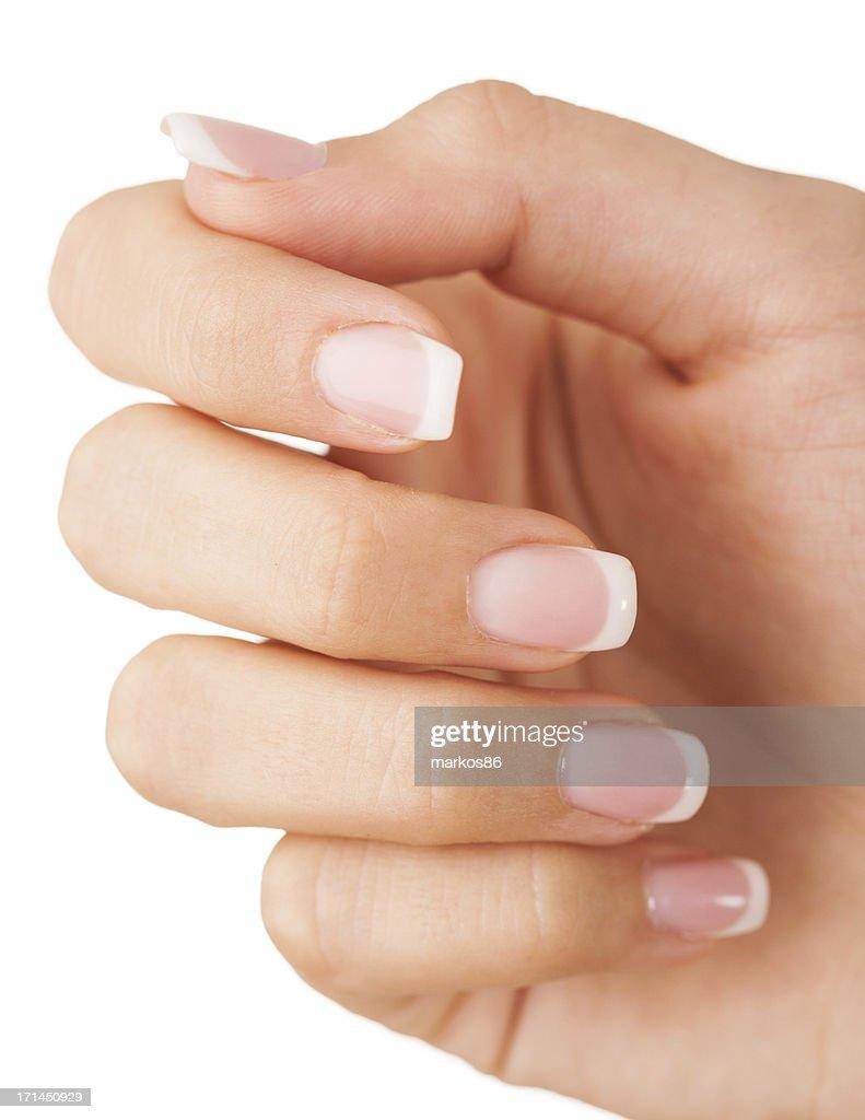 Female fingernails : Stock Photo