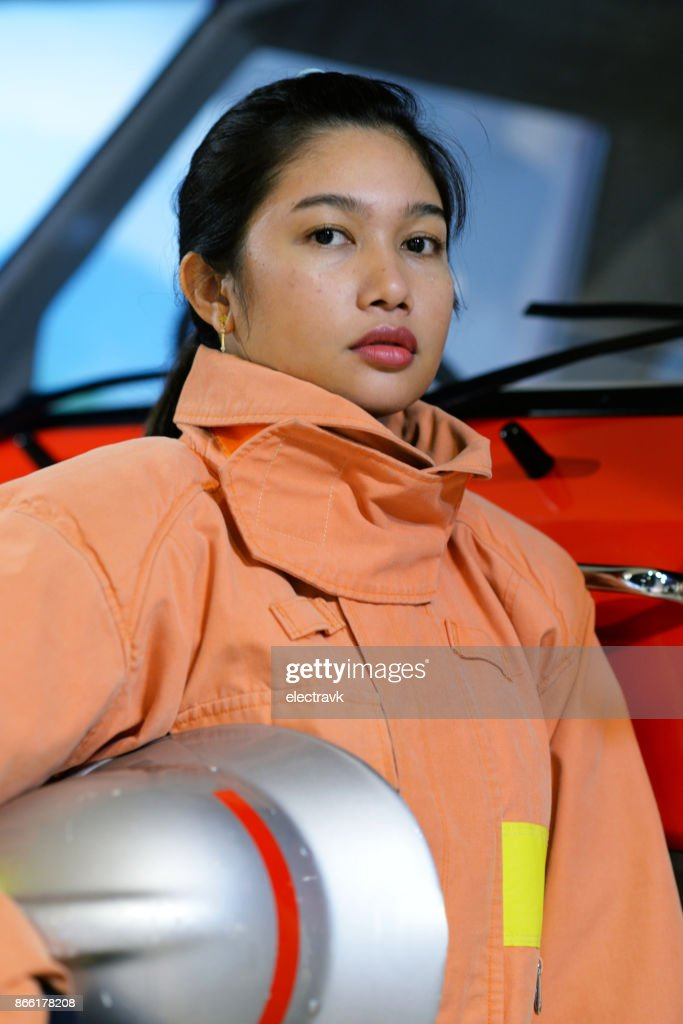 Female firefighter : Stock Photo