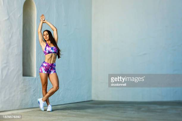 female fitness outdoors - adobe stock pictures, royalty-free photos & images