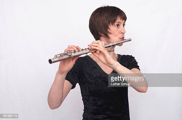 A female flautist