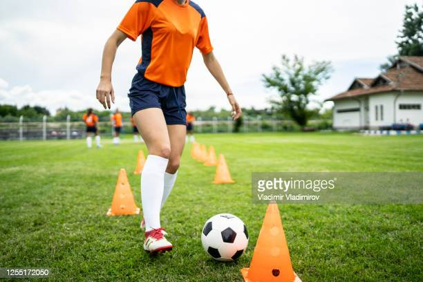 female football player close up - sports league stock pictures, royalty-free photos & images