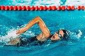 Female Frestyle Swimmer