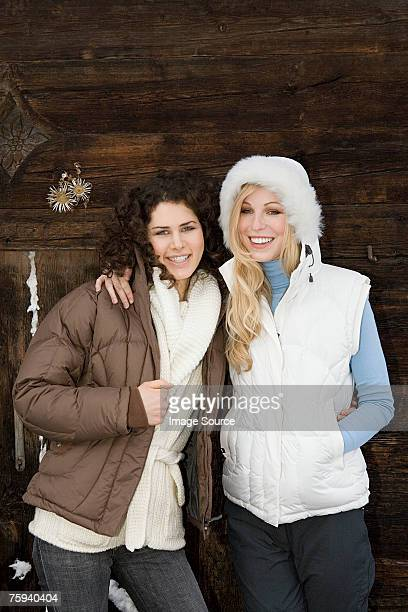 Female friends on a winter vacation