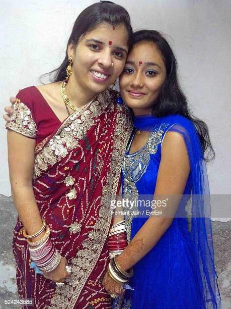 female friends smiling - salwar kameez stock pictures, royalty-free photos & images