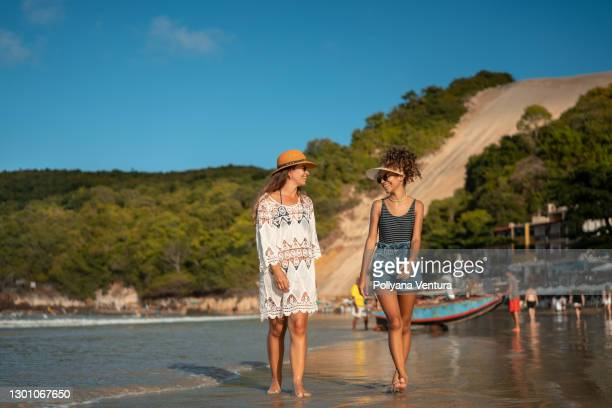 female friendship - natal brazil stock pictures, royalty-free photos & images