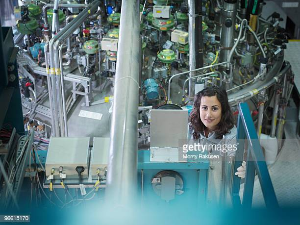 female fusion reactor scientist - nuclear reactor stock pictures, royalty-free photos & images