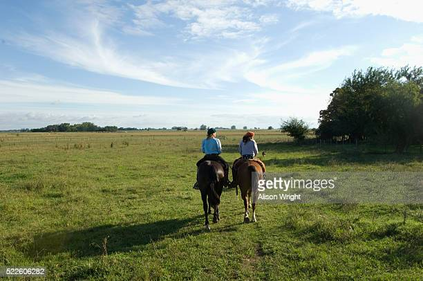 Female Gauchos on Horseback