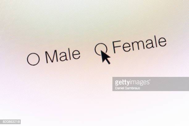 Female gender selection web icons