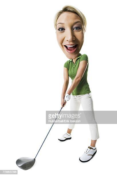 Female golfer