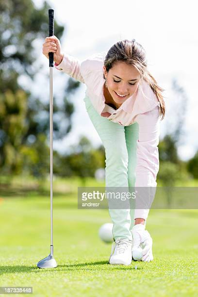 雌ゴルフプレー