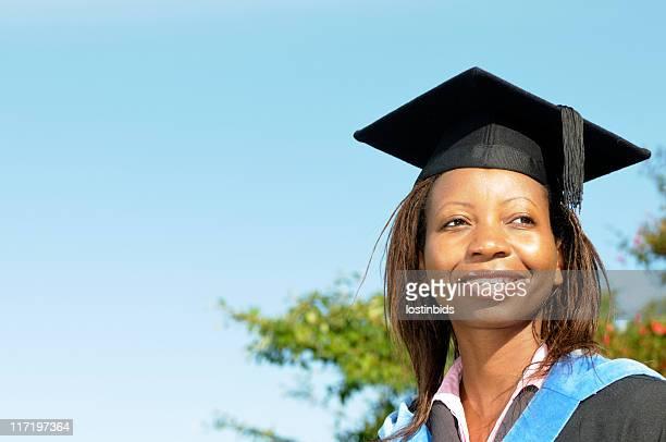 Female Graduate Looking to the Future