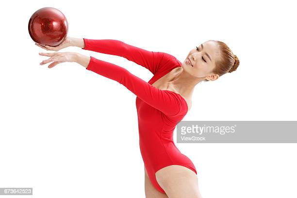 Female gymnastics athlete