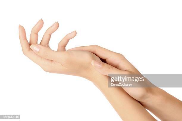 Mujer las manos