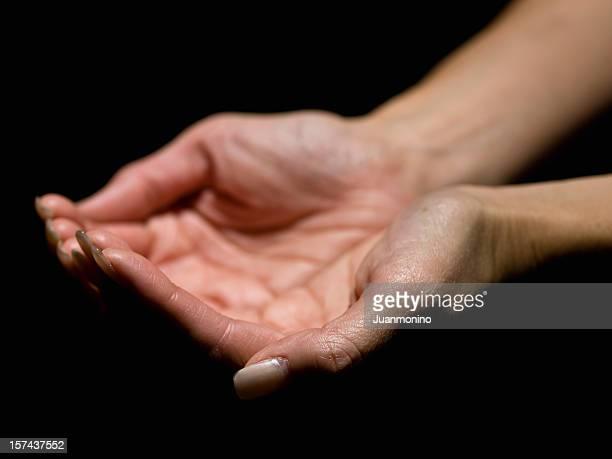 Female hands worshiping
