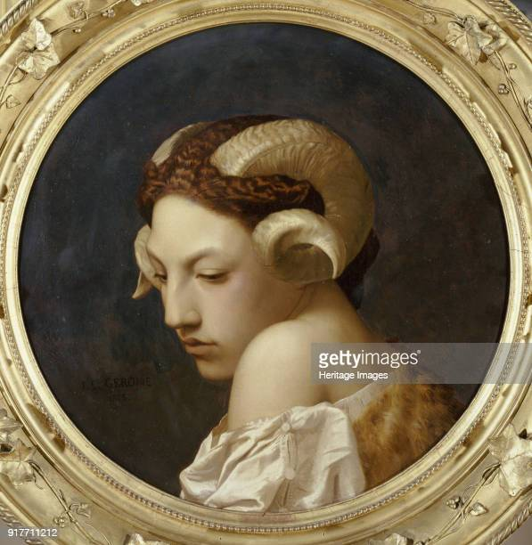 Female head crowned with ram horns Found in the Collection of Musée des BeauxArts Nantes