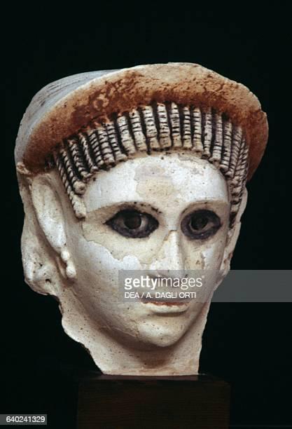Female head from El Fayyum Hellenistic civilisation 1st2nd century AD Alexandria GreekRoman Museum