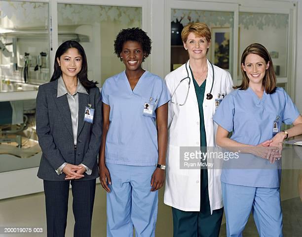 Female healthcare professionals in hospital, portrait