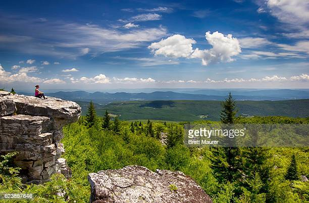 Female Hiker at Dolly Sods Wilderness, West Virginia, USA