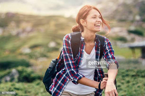 Weibliche Wanderer