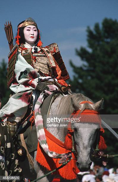 A female horse rider at the Jidai Festival which is held on October 22nd at Heian Shrine It began in 1895 when the shrine was built to commemorate...