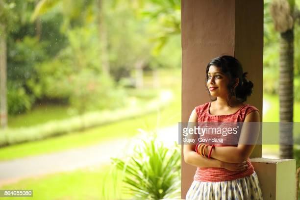Female in Traditional Wear Posing