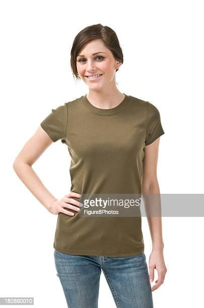 Weibliche in t-shirt