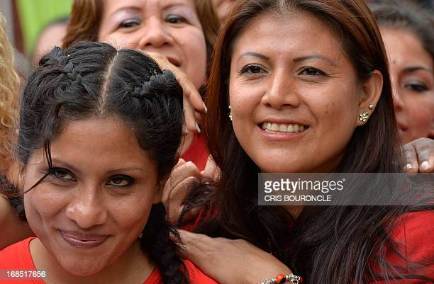 Female inmates of the Peruvian National Penitentiary Institute celebrate Mothers Day two days in advance of the international day at Santa Barbara...