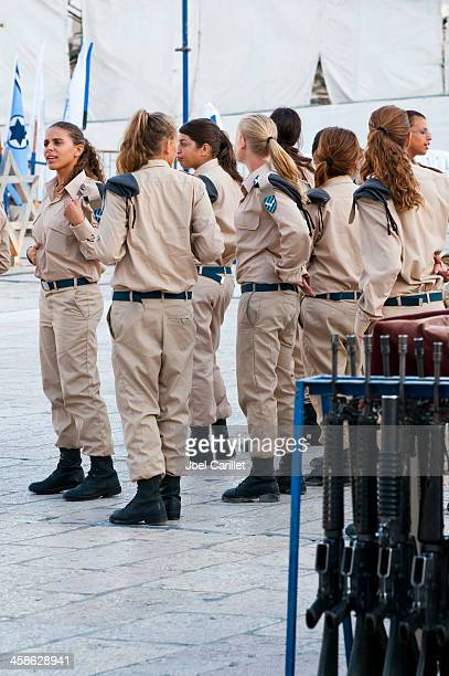 female israeli air force cadets - israeli military stock pictures, royalty-free photos & images