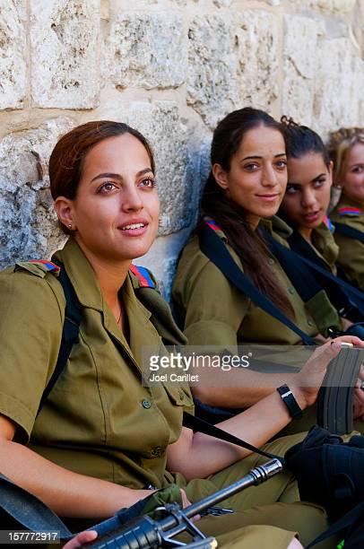 Weibliche israelische Soldaten