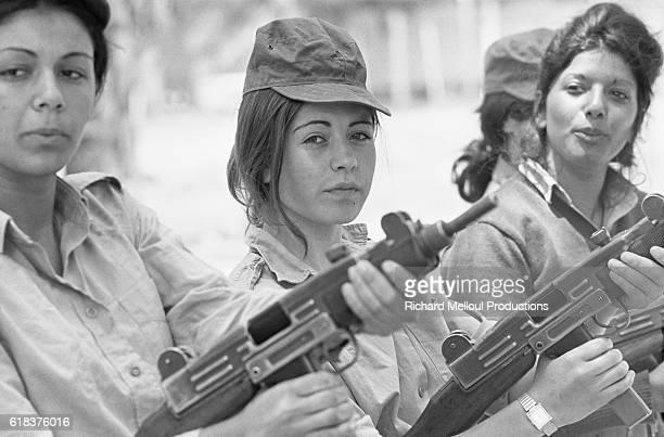 Female Israeli Soldiers with Uzis