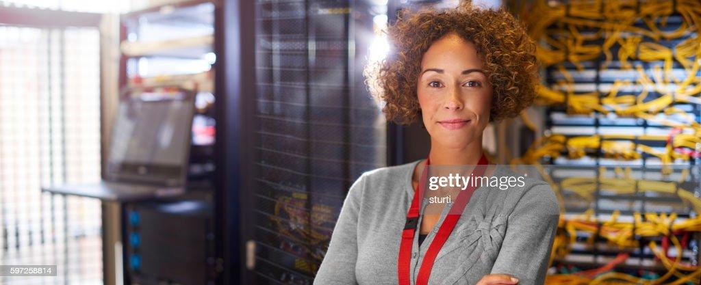 Female IT engineer : Stock Photo