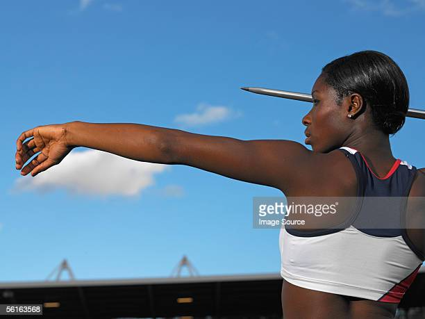 female javelin thrower - women's field event stock pictures, royalty-free photos & images